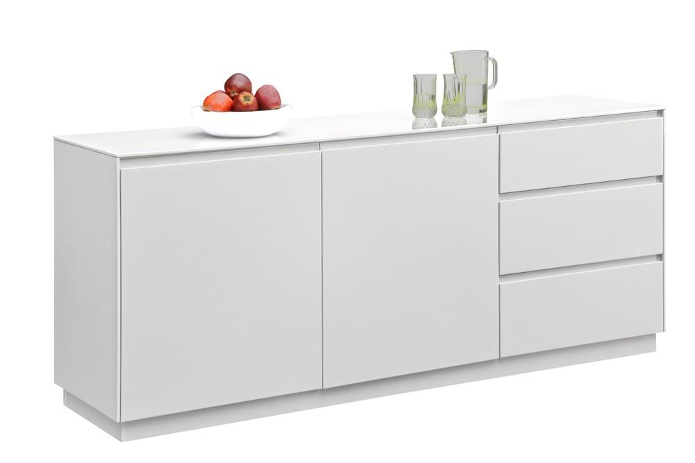 buffet de cuisine blanc laque. Black Bedroom Furniture Sets. Home Design Ideas