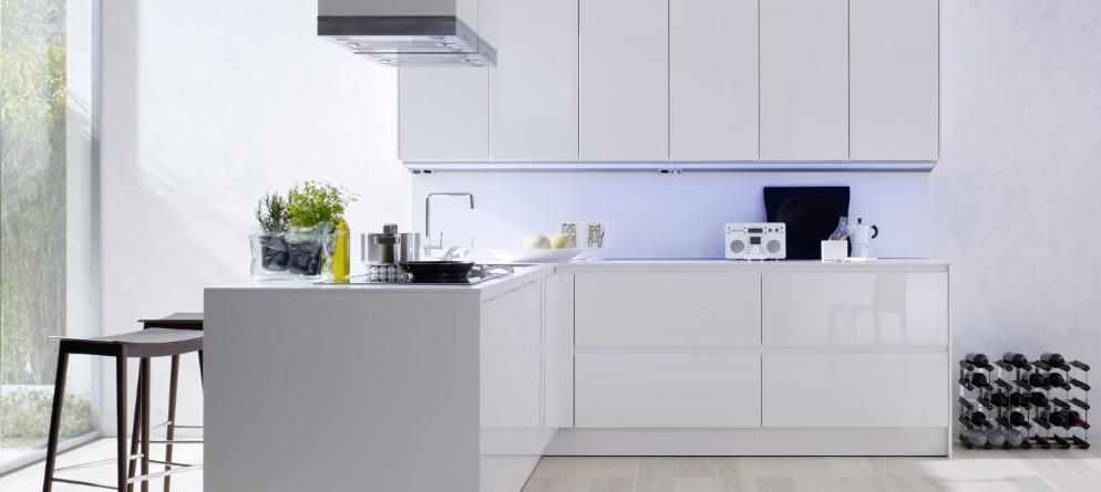 Buffet de cuisine blanc laque for Ensemble de cuisine blanc
