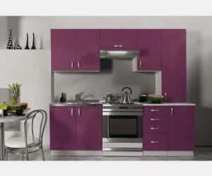 buffet de cuisine violet