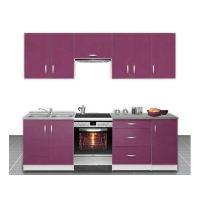 buffet de cuisine violet - Meuble Cuisine Violet