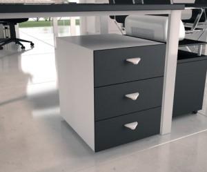 caisson de bureau gris