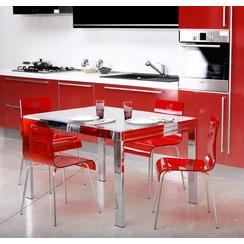 chaise de cuisine rouge pas cher