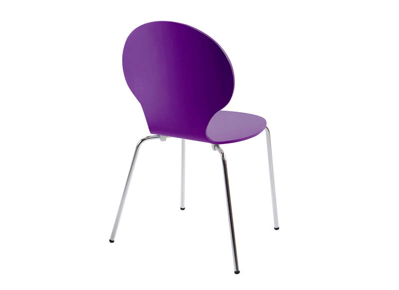 chaise de cuisine violet. Black Bedroom Furniture Sets. Home Design Ideas