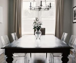 chaise de salle a manger transparente