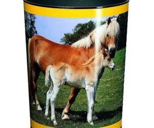 corbeille a papier cheval