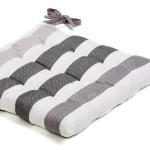 galette de chaise gris argent