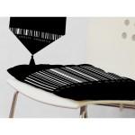 galette de chaise noire
