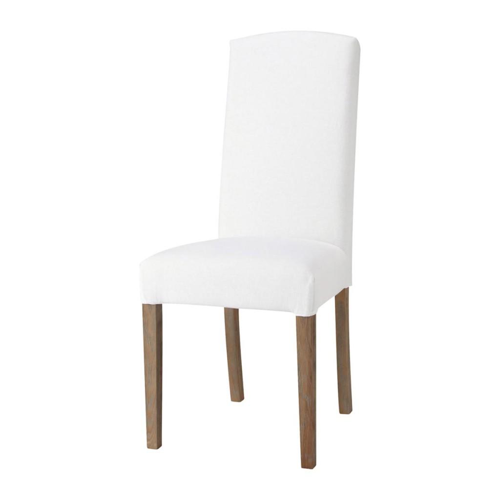 housse de chaise blanche porte