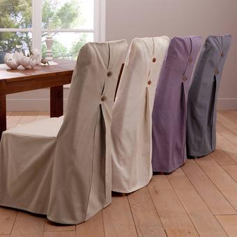Housse de chaise tissu for Housse de chaise en tissu