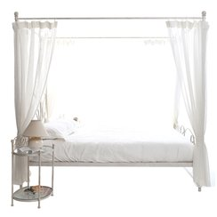 lit 2 personnes baldaquin