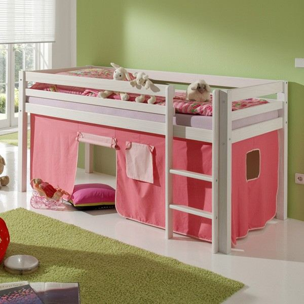 lit enfant hauteur lit mihaut enfant combin rose avec. Black Bedroom Furniture Sets. Home Design Ideas