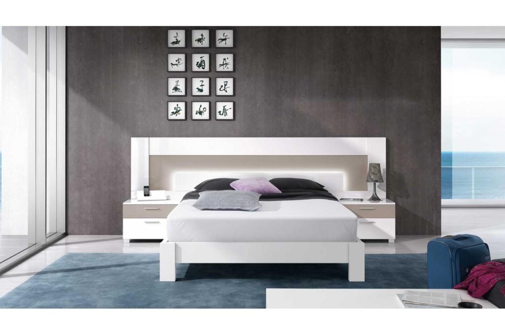 lit deux personnes moderne. Black Bedroom Furniture Sets. Home Design Ideas