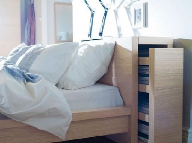 Construire une tete de lit en bois avec rangement - Lit avec tiroir de rangement ikea ...