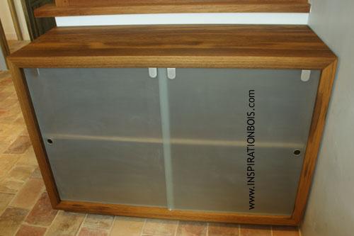 Meuble bas salle de bain porte coulissante for Meuble bas cuisine porte coulissante