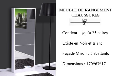 meuble miroir chaussures mobilier design creadomia. Black Bedroom Furniture Sets. Home Design Ideas
