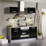 meuble de cuisine noir pas cher