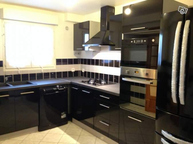 Meuble cuisine noir idee cuisine noir brico depot meuble - Cuisine angle pas cher ...