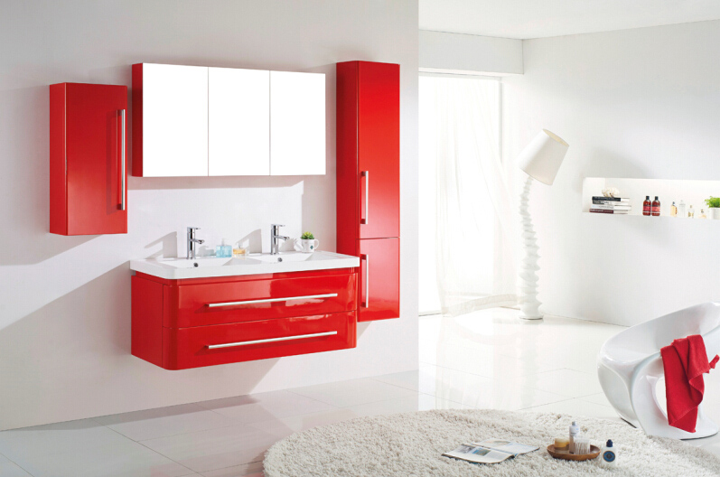 meuble haut salle de bain rouge. Black Bedroom Furniture Sets. Home Design Ideas