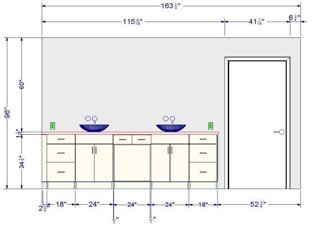 Hauteur miroir salle de bain avec des id es - Hauteur carrelage salle de bain ...