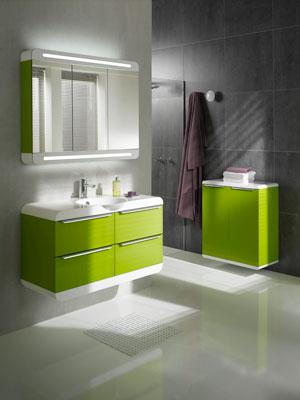 trouver meuble salle de bain vert