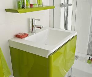meuble salle de bain vert
