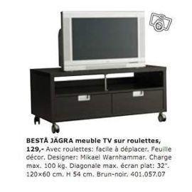 idée meuble tv bas a roulette ikea