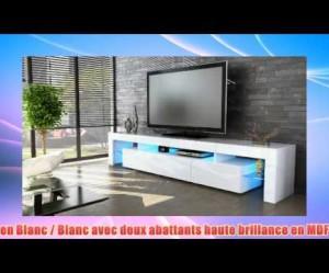 meuble tv bas armoire basse lima v2 en blanc