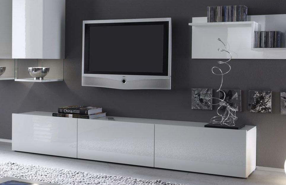 Meuble tv bas laque noir for Meuble tv bas noir