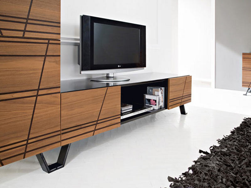meuble tv bas noyer. Black Bedroom Furniture Sets. Home Design Ideas