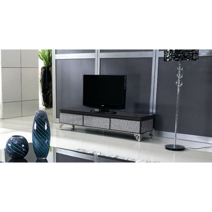 meuble tv en verre haut de gamme. Black Bedroom Furniture Sets. Home Design Ideas