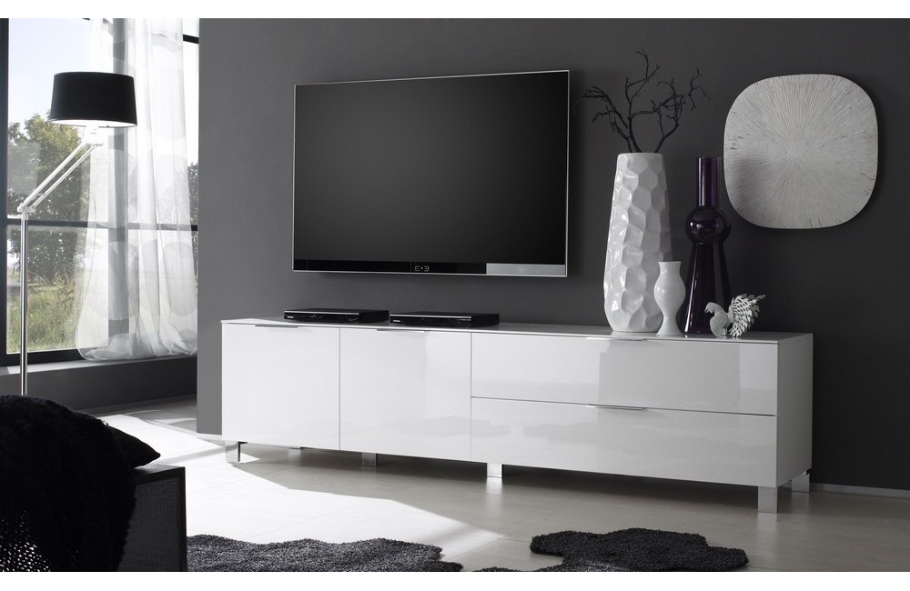 meuble tv haut laque. Black Bedroom Furniture Sets. Home Design Ideas