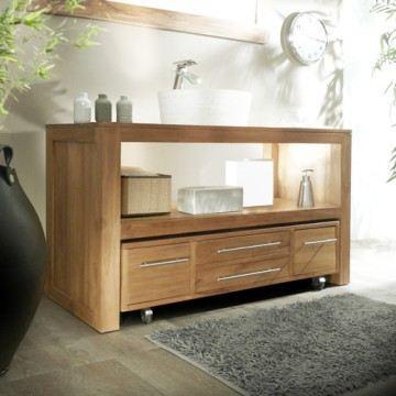 meuble vasque bois pas cher. Black Bedroom Furniture Sets. Home Design Ideas