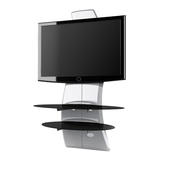 Support mural tv avec etagere - Support tv mural design ...