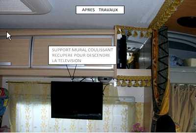 support mural tv vertical. Black Bedroom Furniture Sets. Home Design Ideas