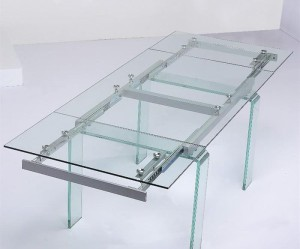 table a manger verre extensible