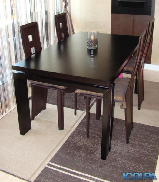 table salle manger wenge meuble de salon contemporain. Black Bedroom Furniture Sets. Home Design Ideas