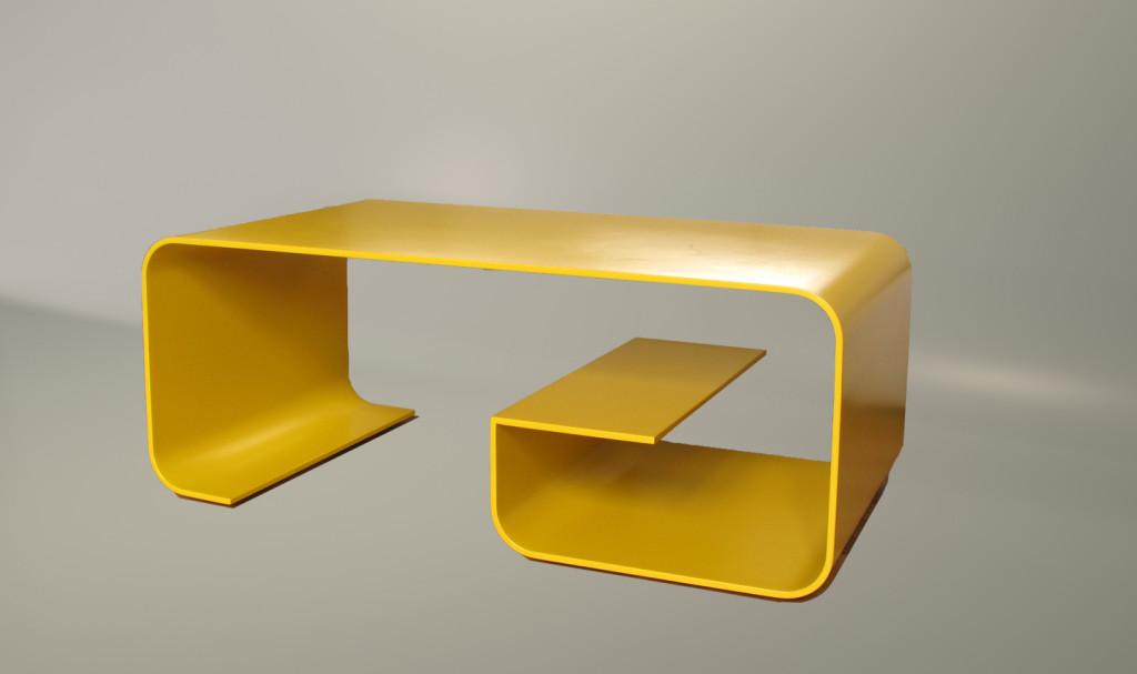 exemple table basse jaune