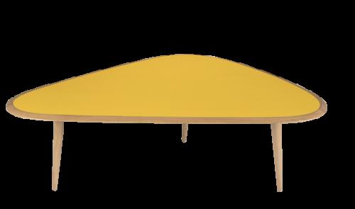trouver table basse jaune