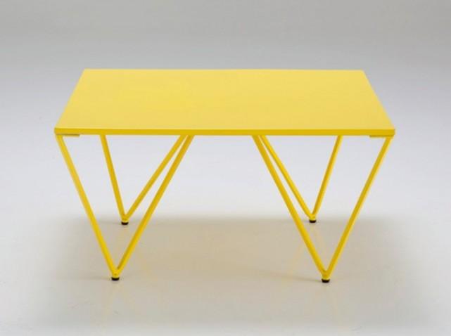 Photo table basse jaune