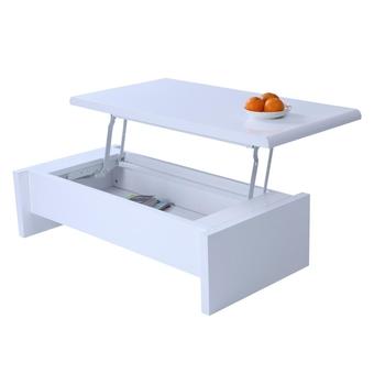 UPPER Table basse transformable, plateau relevable  Blanc mélanimé  Achat /
