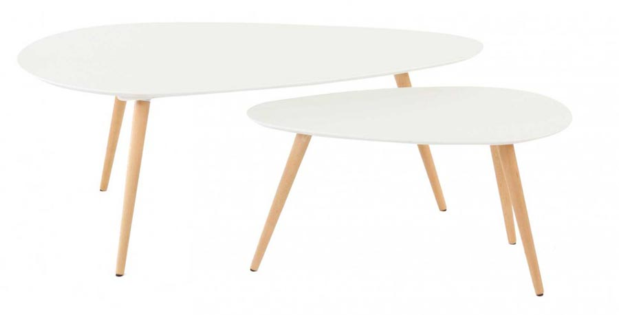 Table de salon style scandinave for Table basse scandinave laquee