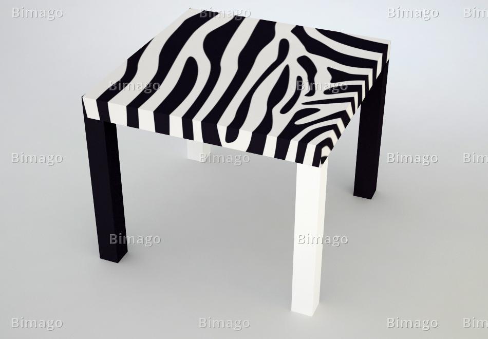 table basse zebre. Black Bedroom Furniture Sets. Home Design Ideas
