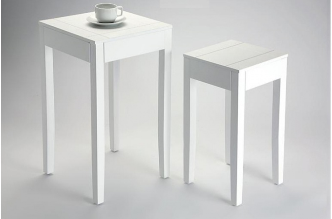 Table d appoint blanc for Table haute d appoint