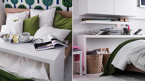 lot MALM Bureau 3 Chaises table Meuble à rideau IKEA poubelle  MAISON