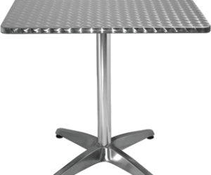 table de bar aluminium et inox