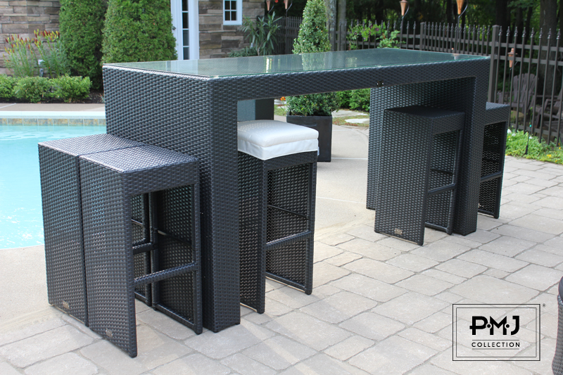 Table de bar exterieur for Protection meuble de jardin