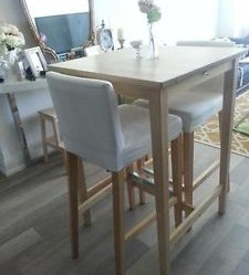 table de bar ikea bjorkudden