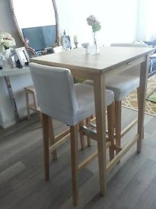 Table haute ikea bjorkudden table de lit - Ikea table haute bar ...