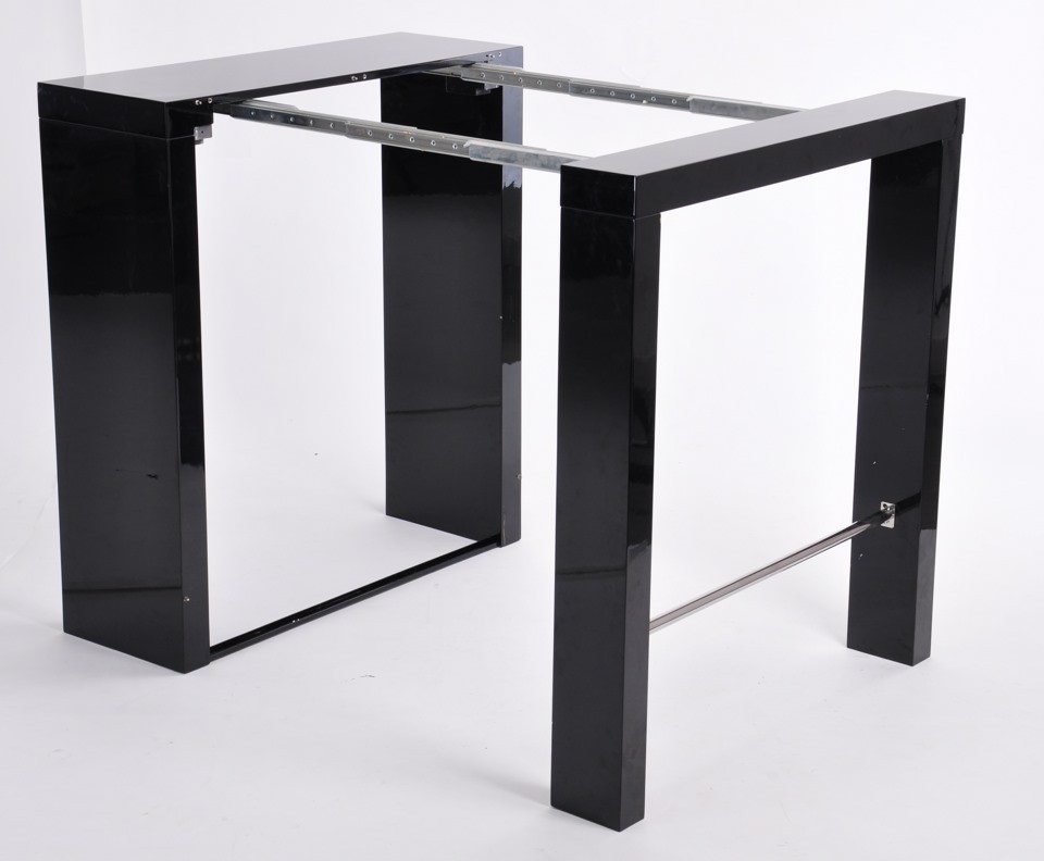 Table haute bar noire 8 personnes table de lit - Table haute 8 personnes ...