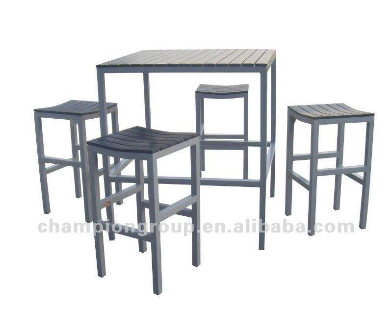 Table de bar exterieur for Table exterieur en aluminium